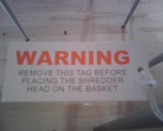 Funny Warning Tag