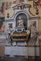 The tomb of Galileo Galilei in the Basilica di Santa Croce
