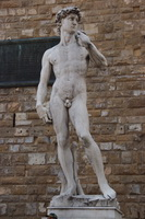 Reproduction of Michaelangelo's David, in the Piazza della Signoria