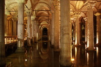 The Basilica Cistern, beneath Istanbul