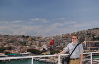 Arriving in Kusadasi, Turkey.