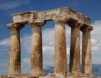 The Temple of Apollo, in ancient Corinth